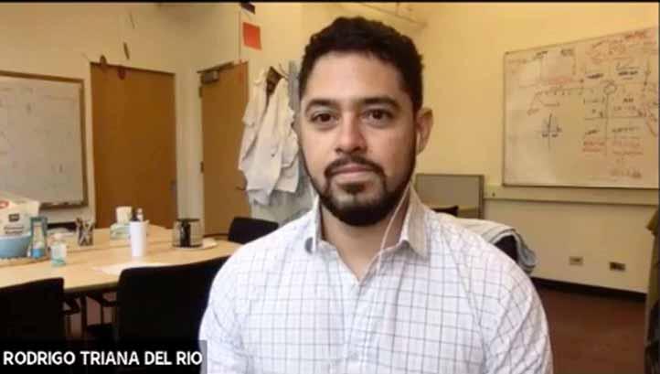 Rodrigo Triana, del Centro de Ciencias Neuronales de la Universidad de Nueva York