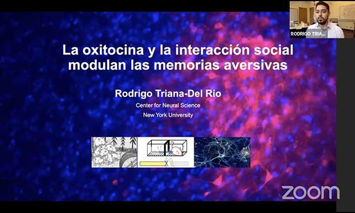El investigador, egresado de la Licenciatura en Biología y la Maestría en Neuroetología, participó en la Semana del Cerebro 2021