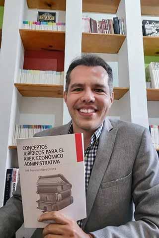La UV y UNAM coeditaron el libro Conceptos jurídicos para el área económico administrativa, de José Francisco Báez Corona, investigador del IIJ