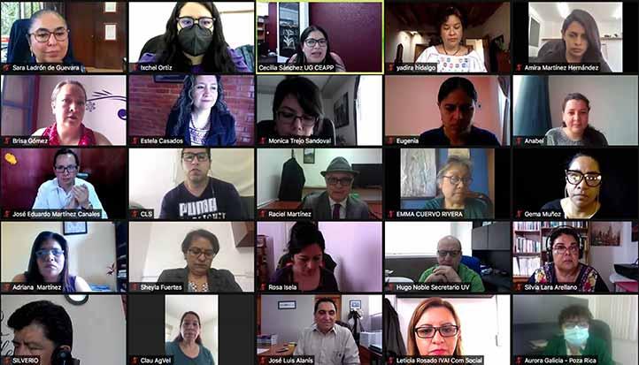Los titulares de la UV, el IMMX y la CEAPP, inauguraron el curso taller de comunicación con perspectiva de género