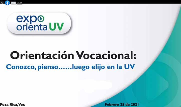 """Las académicas condujeron la conferencia """"Orientación vocacional: ¡Conozco, pienso… luego elijo en la UV!"""""""