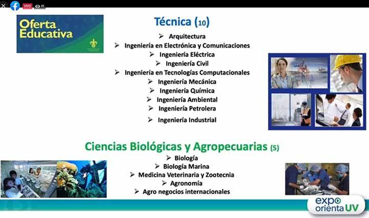 En la región Poza Rica-Tuxpan se imparten programas educativos de las seis áreas académicas