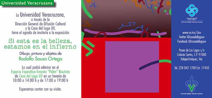 """La muestra de pintura, dibujo y objetos se podrá apreciar en el espacio """"Ernesto'Pelón'Bautista"""",de lunes a viernes de 10:00 a 14:00 y de 17:00 a 19:00 horas"""