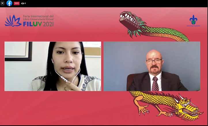 El conferencista fue presentado por Abigail Herrera Gómez, coordinadora de proyectos del Cechiver
