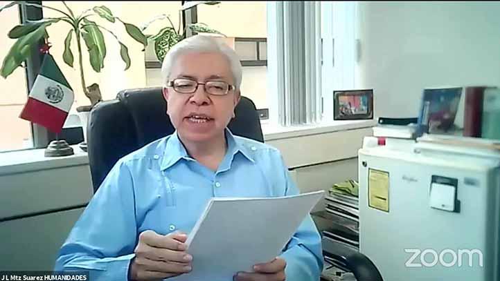 José Luis Martínez Suárez, director general del Área Académica de Humanidades, inauguró formalmente el encuentro virtual