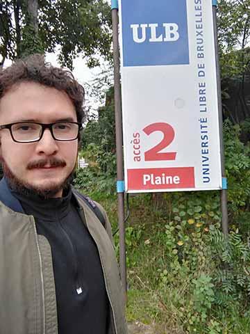 Roberto Ornelas Guevara fue contratado por la Universidad Libre de Bruselas como investigador doctoral