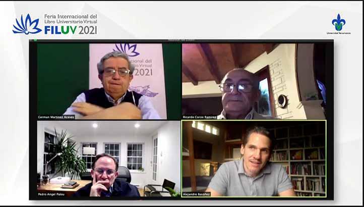 Germán Martínez, Ricardo Corzo, Pedro Ángel Palou y Alejandro Basáñez conversaron sobre Jesús Reyes Heroles en la FILU Virtual
