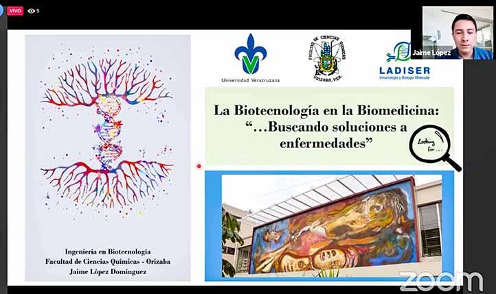 Jaime López Domínguez, del Ladiser en la región Orizaba-Córdoba, abordó el desarrollo de la vacuna contra el Covid-19
