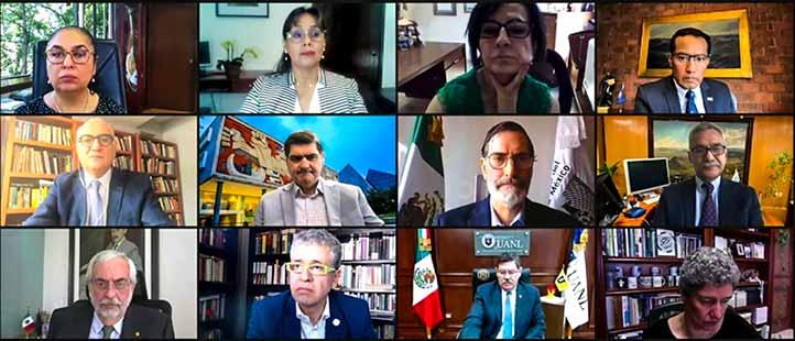 En la ceremonia de inauguración virtual participaron rectores de las IES organizadoras