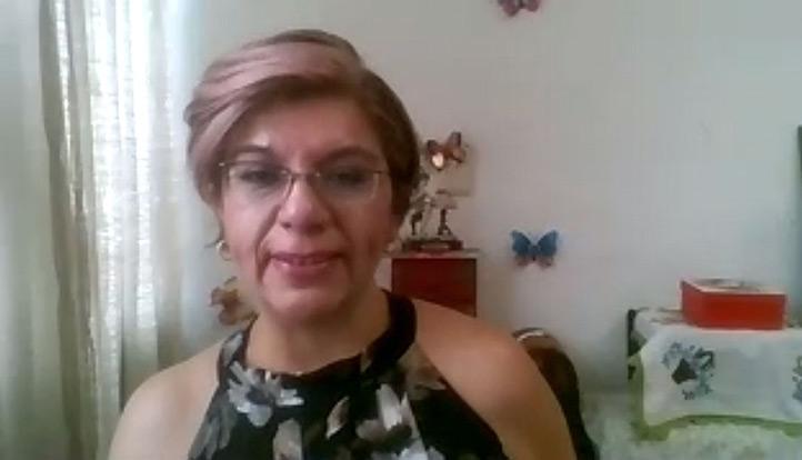 María Teresa Leal Ascencio durante su exposición en torno de la problemática de degradación y posibles soluciones en cuerpos acuíferos