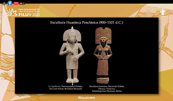 Kim N. Richter habló sobre las esculturas y estelas halladas en la Huasteca