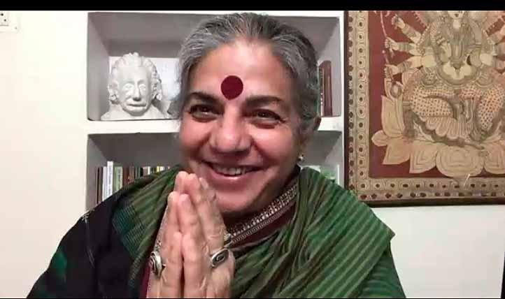 """Vandana Shiva, física, filósofa, escritora y ecofeminista india, impartió la conferencia """"Protegiendo nuestra biodiversidad, el patrimonio intelectual y la soberanía"""""""