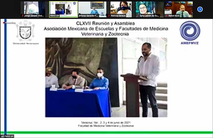 La Facultad de Medicina Veterinaria y Zootecnia dio la bienvenida a la CLXVII Asamblea de la AMEFMVZ