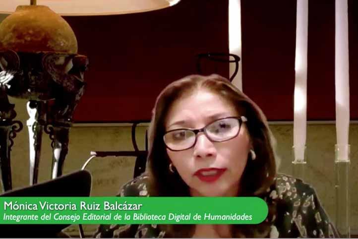 Mónica Victoria Ruiz Balcázar habló de los beneficios de la Biblioteca Digital de Humanidades
