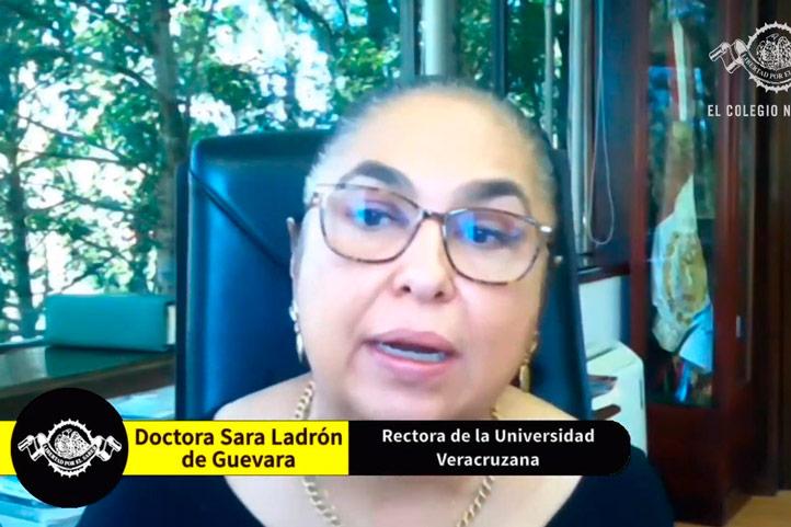 La rectora Sara Ladrón de Guevara dijo que la UV es ejemplo de la lucha por la autonomía universitaria