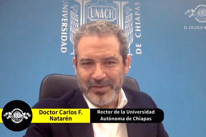 Carlos Natarén, rector de la Universidad Autónoma de Chiapas