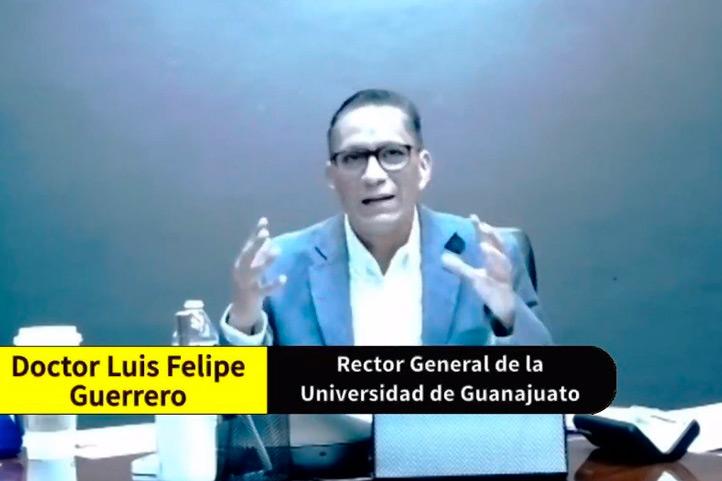 Luis Felipe Guerrero, rector general de la Universidad de Guanajuato