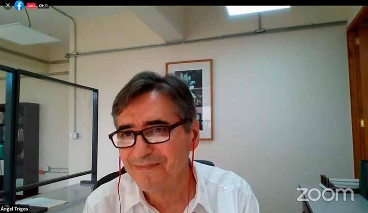 Ángel Trigos Landa, director general de Investigaciones, inauguró el Simposio Internacional Psicología y Salud