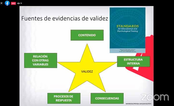"""Sergio Alexis Domínguez Lara, profesor investigador de la UPSJB, abordó el tema """"¿Qué ocurre con las evidencias de validez y confiabilidad en las evaluaciones psicológicas online durante la pandemia?"""""""