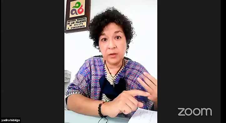 Yadira Hidalgo González, directora del Instituto Municipal de las Mujeres de Xalapa