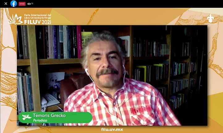 Témoris Grecko presentó su más reciente libro en la 1ª FILUV 2021