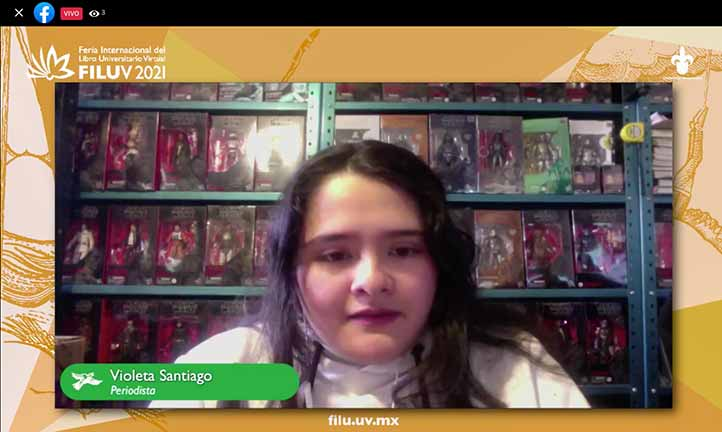 Violeta Santiago comentó que brinda un panorama completo de lo que significa ser periodista en México