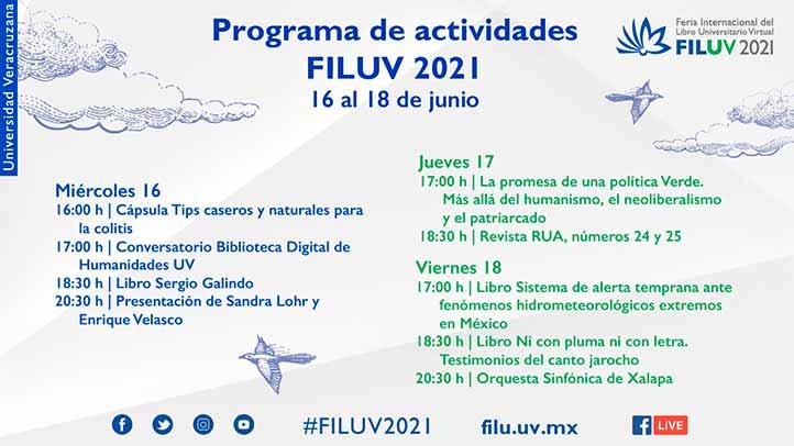 Las transmisiones se realizan por Facebook Live de la FILU Virtual