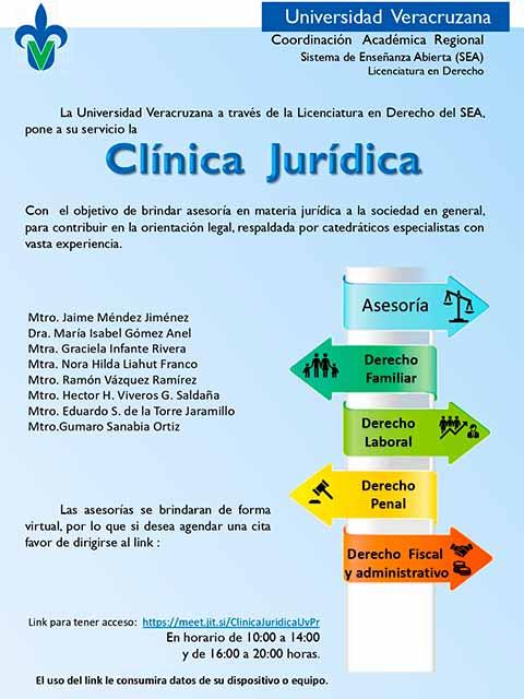La apertura de la clínica jurídica beneficiará a la población en general