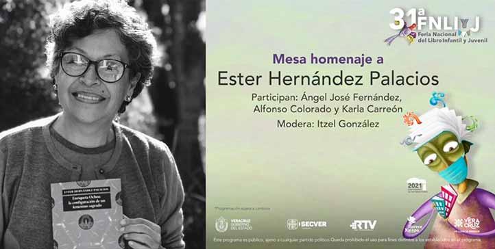 La escritora, investigadora y docente Ester Hernández Palacios Mirón fue objeto de un público reconocimiento por parte del Ivec