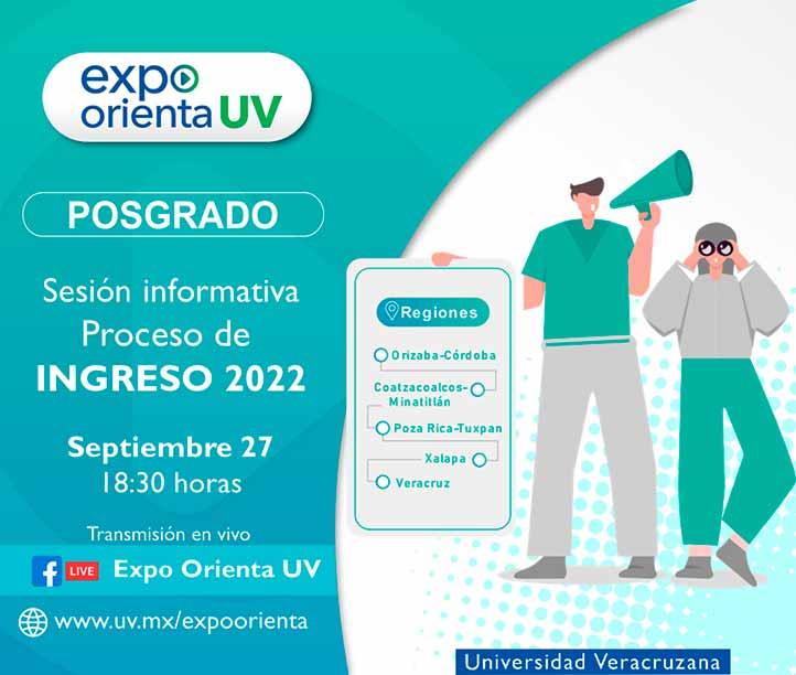 El sitio de Expo Orienta UV en Facebook será donde se transmita la sesión informativa