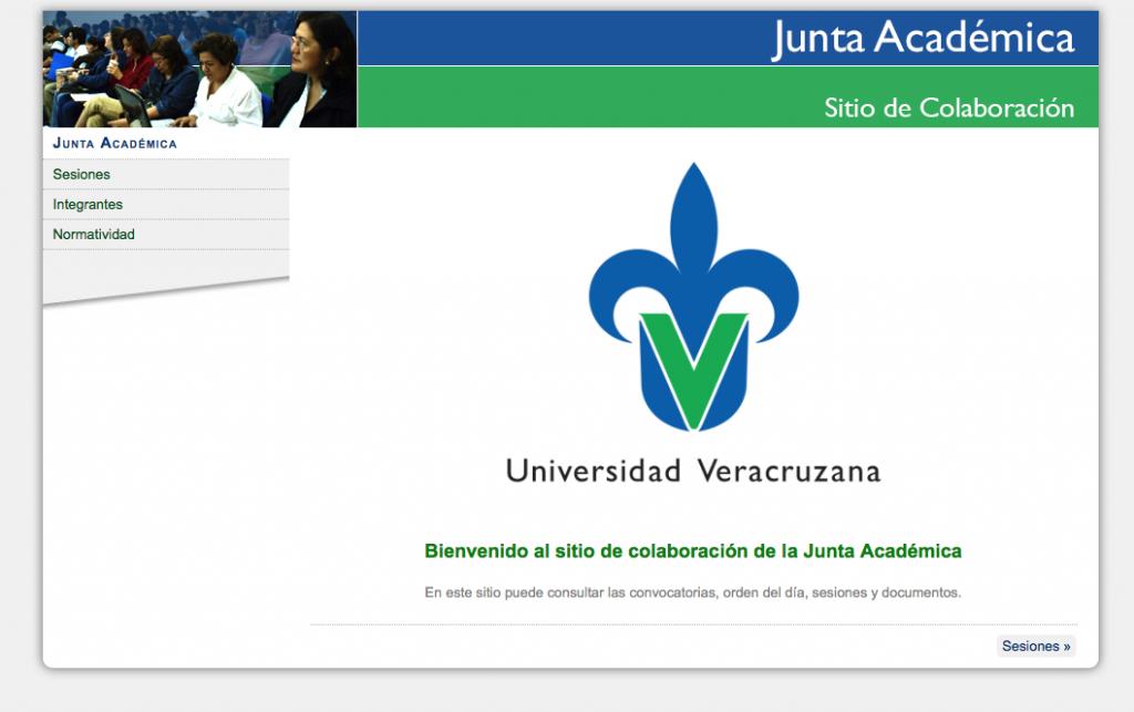 Haz clic en la imagen para interactuar con el Sitio de Colaboración de la Junta Académica