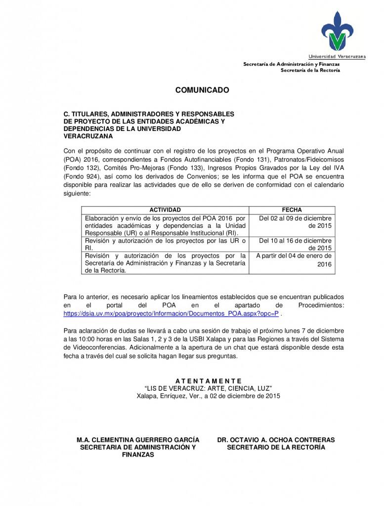Comunicado_POA_ESPECIF-2016-001