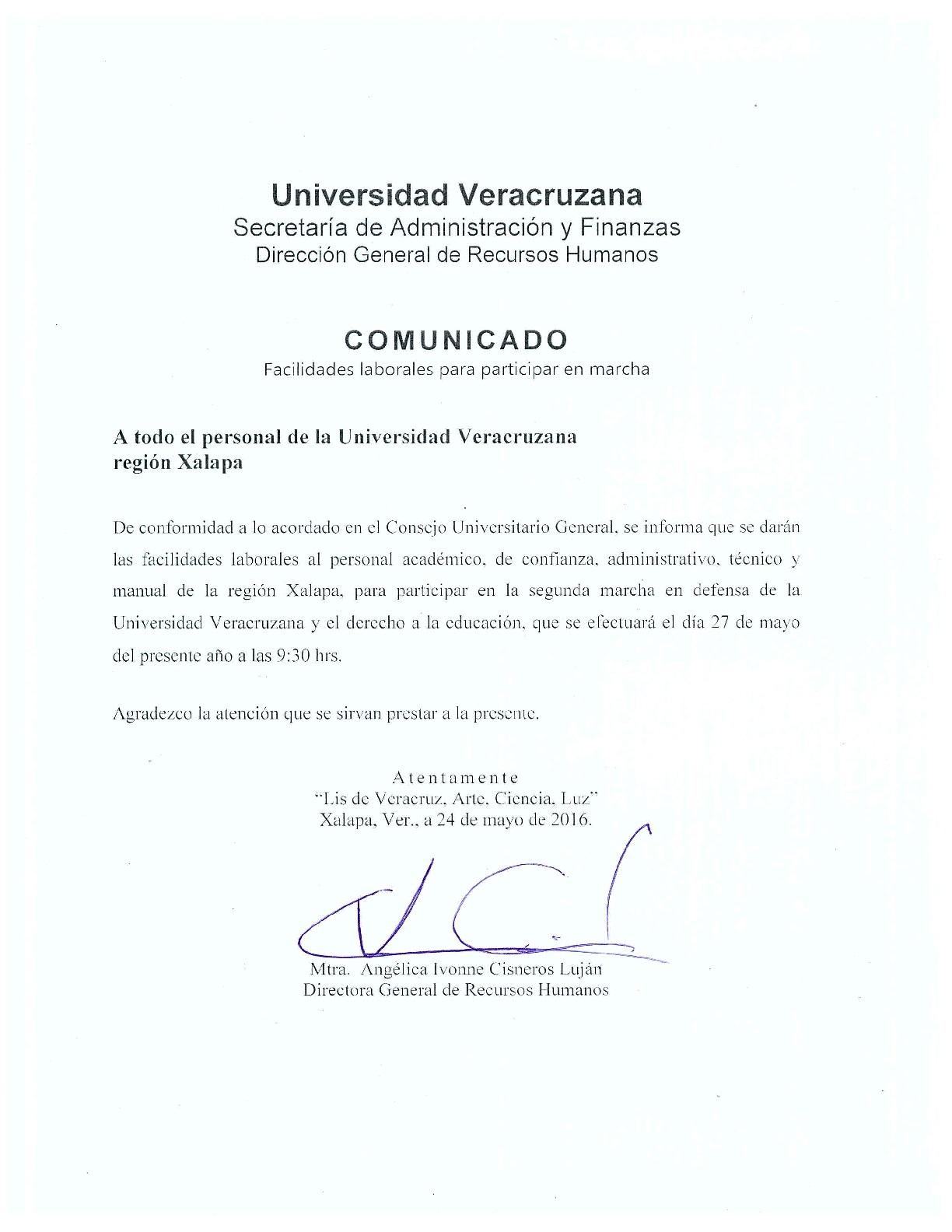 Avisos y Circulares - Dirección General de Recursos Humanos