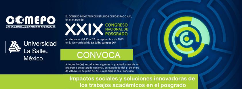 XXIX Congreso Nacional de Posgrado 2015