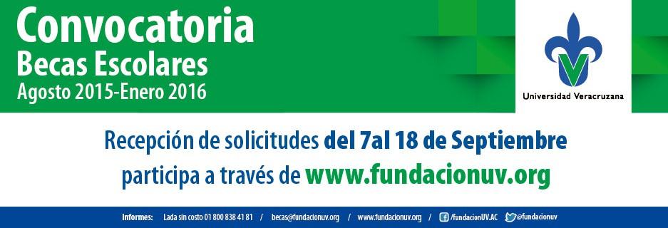 Convocatoria Becas Escolares Agosto 2015 - Enero 2016