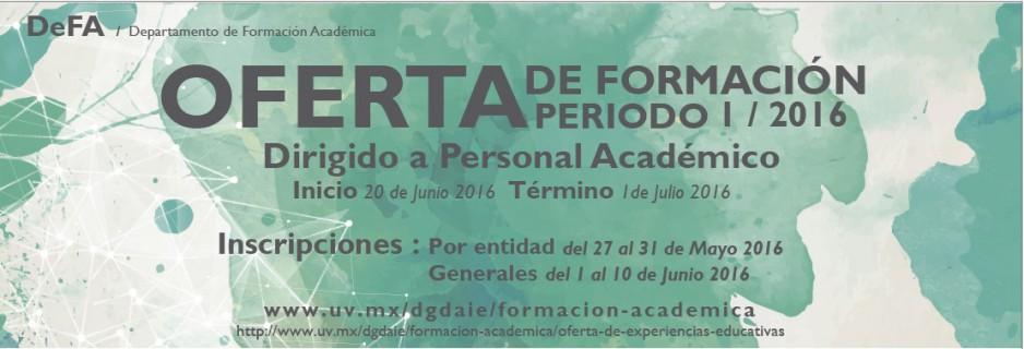 Departamento de Formación Académica - Oferta de formación periodo I / 2016