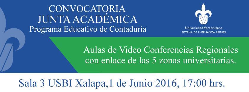 Convocatoria para Junta Académica de Contaduría