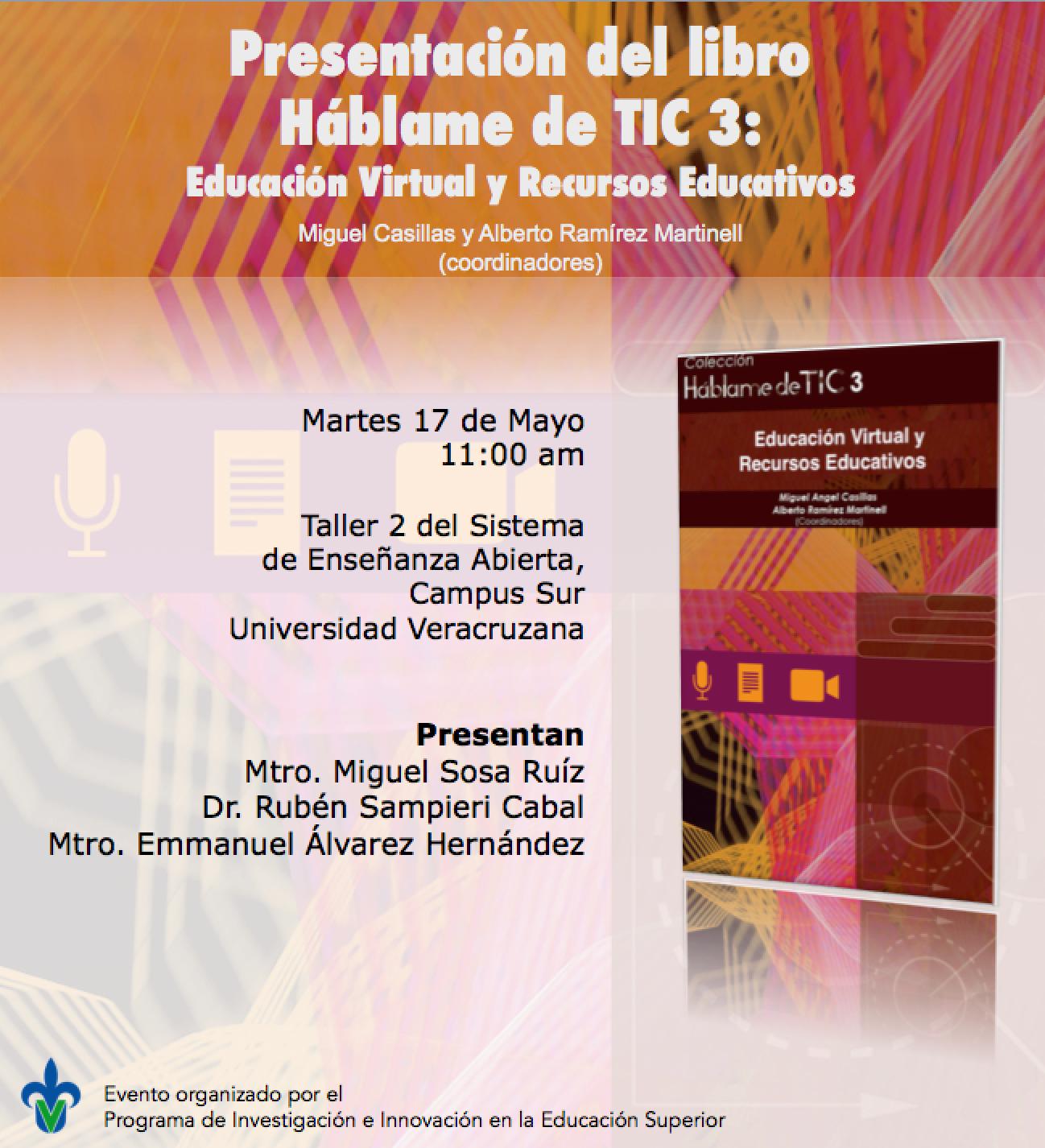 Presentación del Libro: Háblame de TIC 3 Educación Virtual y Recursos Educativos