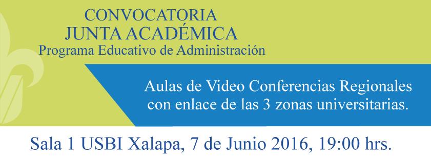 Convocatoria Junta Académica de Administración