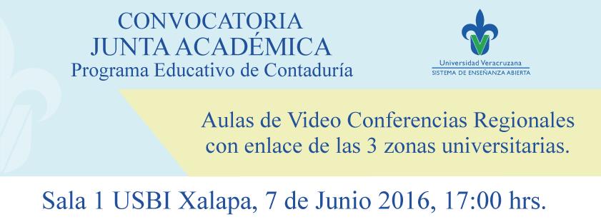 Convocatoria Junta Académica de Contaduría