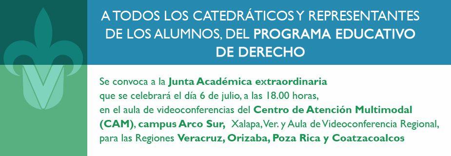 Junta Académica Extraordinaria del Programa Educativo de Derecho