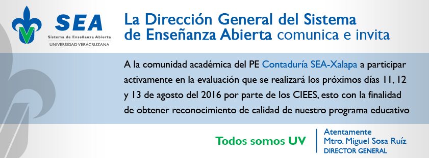 Evaluación del programa educativo de Contaduría SEA-Xalapa por prate de los Comités Interinstitucionales para la Evaluación de la Educación Superior (CIEES)