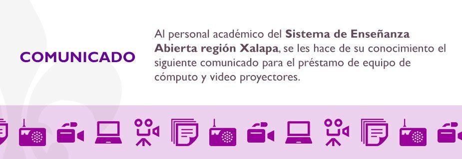 Comunicado para el personal académico región Xalapa