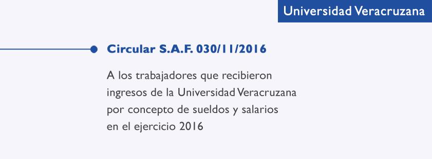 Circular S.A.F. 030/11/2016