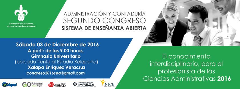 Segundo Congreso de Administración y Contaduría - El conocimiento interdisciplinario, para el profesionista de las Ciencias Administrativas 2016