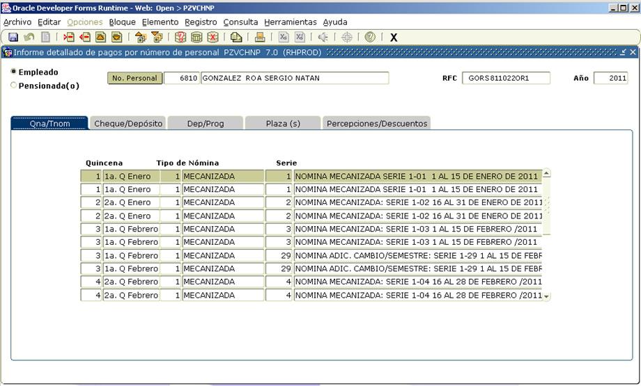 Fortalecimiento y proceso de mejora 2011 2013 Formato de nomina para pago de sueldos