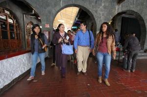 Sara Ladrón de Guevara dialogó con representantes estudiantiles