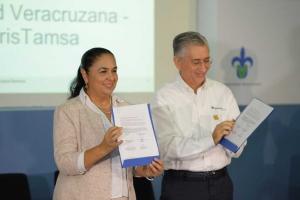 Sara Ladrón de Guevara y Sergio de la Maza refrendaron la colaboración