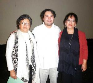 Esther Hernández, Jorge Arturo Castillo y Claudia Bandala