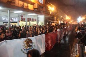 El contingente a su paso por la calle Enríquez